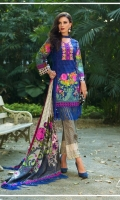 Shirt: Printed Lawn Dupatta: Printed Lawn Trouser: Printed  EMBROIDERY: Embroidered Gala on shirt Embroidered Daman for Front