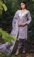 Shirt: Printed Lawn Dupatta: Embroidered Chiffon Trouser: Dyed  EMBROIDERY: Embroidered Gala on Shirt Embroidered Chiffon Dupatta