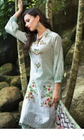 Shirt: Printed Lawn Dupatta: Printed Chiffon Trouser: Dyed  EMBROIDERY: Embroidered Daman on Shirt Embroidered Gala