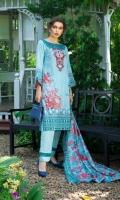 3 Piece Printed Lawn Suit Shirt: Printed Lawn Shirt - 3 Metre  Dupatta: Printed Lawn Dupatta - 2.5 Metre Trouser: Plain Trouser - 2.5 Metre