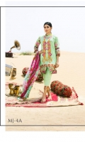 Three Piece Embroidered Lawn Suit with Dobby Voile Dupatta.