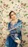 Digital Printed Lawn Shirt With Embroidered Neck Dupatta Digital Silk Cotton Trousers Dyed