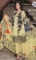 - Embroidered Digital Swiss with Chiffon Dupatta