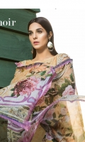 Digital Printed Swiss Shirt With Embroidered Dupatta Digital Chiffon Trouser Cotton Dyed