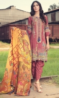 Digital Printed Embroidered Linen Front 1.14 M Digital Printed Linen Back 1.14 M Digital Printed Linen Sleeves 0.67 M Digital Printed Crinkle Chiffon Dupatta 2.5 M Dyed Linen Trouser 2.5 M