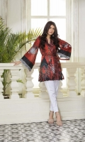 One Piece, Shirt Fabric: Digital printed lawn Includes: Front, Back, Sleeves,and embroidered patches