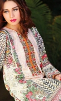3 Meter Printed Cotton Shirt,Embroidered 1 Meter Lace