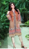 3 Meter Printed Cambric Shirt,Embroidered 2 Bunched