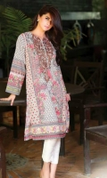 3 Meter Printed Cotton Shirt,Embroidered Neck