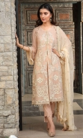 Embroidered Crinkle Chiffon Front 1 M Crinkle Chiffon Back 1 M Embroidered Crinkle Chiffon Sleeves 0.67 M Embroidered Crinkle Chiffon Dupatta 2.5 M Dyed Silk Trouser 2.5 M