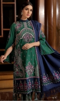 Embroidered Khaddar Front 1 M Dyed Khaddar Back 1 M Neckline Embroidered Patch 1.5 M Embroidered Patch For Daman Front & Back 2 M Embroidered Khaddar Sleeves 0.67 M Embroidered Hand Woven Shawl 2.5 M Dupatta Embroidered Patch 5 M Dyed Khaddar Trouser 2.5 M