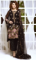 Stitched Two Piece, Shirt Fabric: Embroidered Hand Embellished Crinkle Chiffon, Includes: Front, Back, Sleeves, Embroidered Silk Net Dupatta.