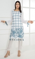 Item Type: Stitched One Piece, Shirt Fabric: Embroidered Lawn, Includes: Front, Back, Sleeves.