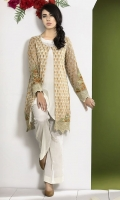 Stitched Two Piece, Shirt Fabric: Pure Crinkle Chiffon, Includes: Front, Back, Sleeves, Silk Trouser, Optional Dupatta