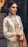 Digital Printed Linen Front 1 M Digital Printed Linen Back 1 M Neckline Embroidered Patch For Front 2 Pc Embroidered Patch For Front Daman 1 M Digital Printed Linen Sleeves 0.67 M Digital Printed Linen Dupatta 2.5 M Dyed Linen Trouser 2.5 M