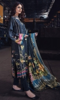 Digital Printed Linen Front 1 M Digital Printed Linen Back 1 M Front Embroidered Patch 1 Pc Digital Printed Linen Sleeves 0.67 M Digital Printed Linen Dupatta 2.5 M Dyed Linen Trouser 2.5 M