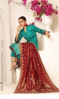 Banarsi Lawn Unstitch Three Pcs Suit