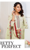 Embroidered Cambric Shirt, Embroidered Chiffon Dupatta, Plain Dyed Trouser