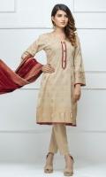 Shirt: - Banarsi Jacquard Lawn Dupatta: - Banarsi Jacquard Lawn Trouser: - Dyed
