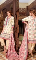 Shirt: - Embroidered Cotton Dupatta: - Embroidered Lawn Trouser: - Dyed