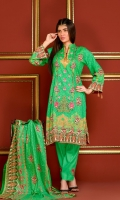 Embroidered Lawn Shirt Printed Lawn Dupatta Dyed Embroidered Trouser