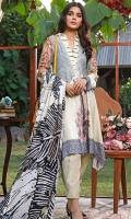 Embroidered Cotton Satin Unstitched 3 Piece Suit