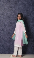 Cotton Net Formal 3 Piece Suit for Girls