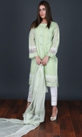 Embroidered Cotton Net Stitched 3 Piece Suit