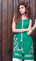 Tunic in a bold shade of viridian green (One piece)