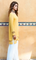 Tuscan sun yellow tunic is crafted from fluid georgette chiffon (One piece)
