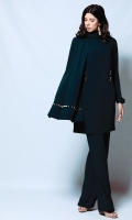 Black tunic with double metal accent (One piece)