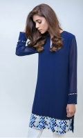 Daman featuring embroidery in hues of blue - tunic (One piece)