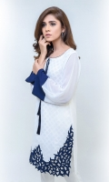 Tunic with hand-crafted cutwork daman (One piece)