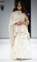 Embroidered jacket, dupatta and lehnga. Organza Fabric, Silk bluose, Cotton Lehnga.