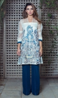 Organza fabric, angarkha style shirt wif hand embellishment.