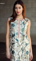Birds of paradise, trendy embroidered shirt with printed back and a plain dyed trouser.