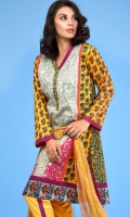 3 Piece Unstitched Suit: Shirt Printed Cambric with Plain Cambric Trouser Printed Lawn Dupatta.