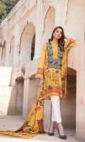 Acid yellow with indian digital print kameez with a beautiful placement of embroidery