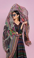 - Printed Lawn Shirt  - Printed Blended Chiffon Dupatta
