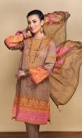- Digital Printed Lawn Shirt  - Printed Blended Chiffon Dupatta