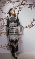 Black Digital Printed Embroidered Stitched Lawn Shirt - 1PC