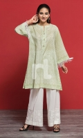 Green Digital Printed Stitched Lawn Shirt - 1PC