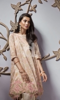 Pink Printed Embroidered Stitched Lawn Shirt - 1PC