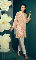 Yellow Printed Stitched Lawn Shirt - 1PC