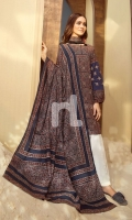 Maroon Printed Embroidered Stitched Ajrak Cotton Shirt & Printed Dupatta- 2PC