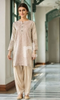 Skin Printed Embroidered Stitched Lawn Shirt - 1PC