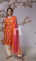 Pink Printed Stitched Lawn Shirt & Dupatta - 2PC