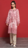 Pink Digital Printed Stitched Lawn Shirt - 1PC