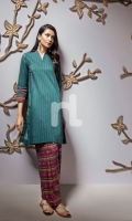 Sea Green Printed Stitched Lawn Shirt & Printed Shalwar - 2PC