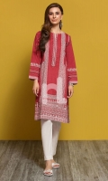 Maroon Digital Printed Stitched Lawn Shirt - 1PC